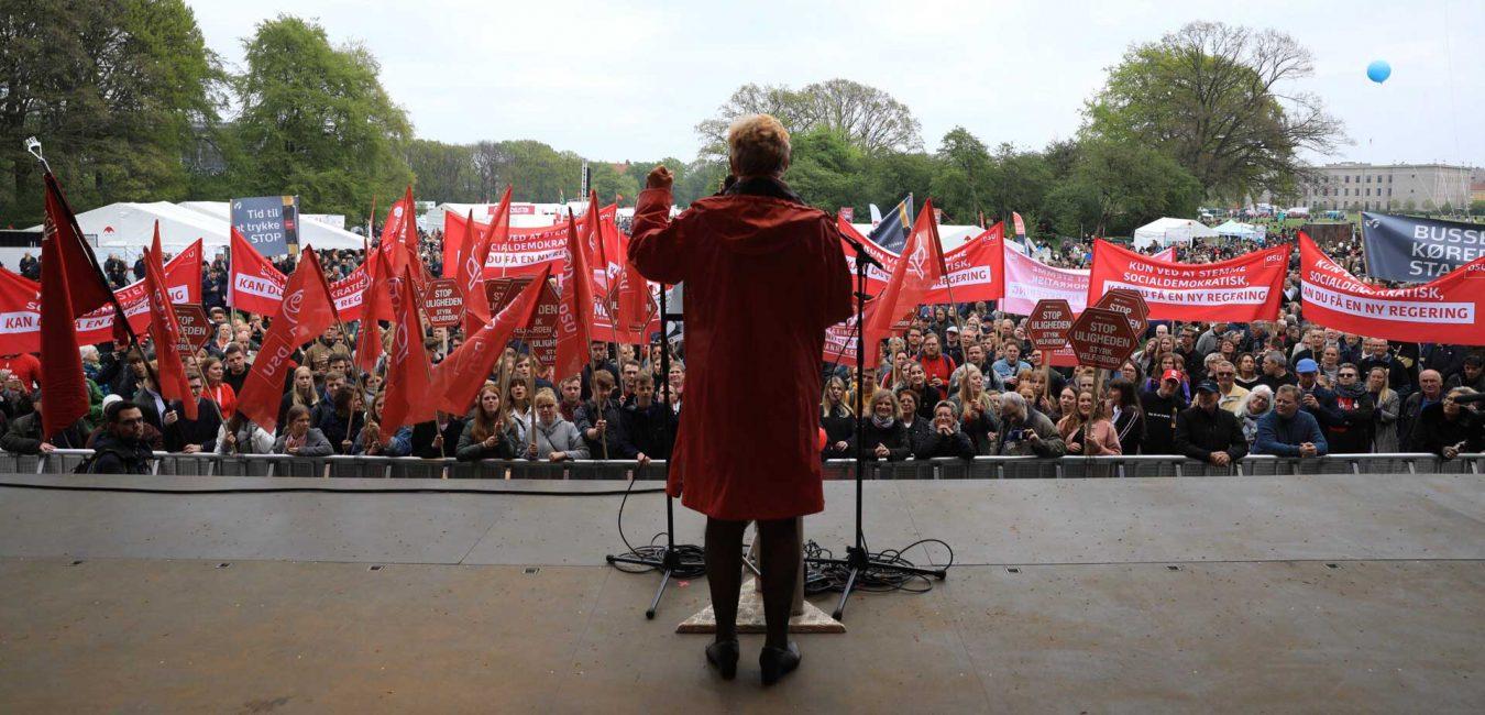 Lizette Risgaard. Formand i Fagbebevægelsens Hovedorganisation
