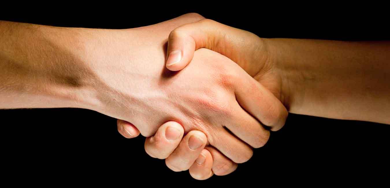 Håndtryk - aftale