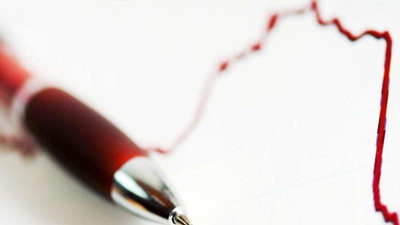 Krise: Kurve, rød kuglepen