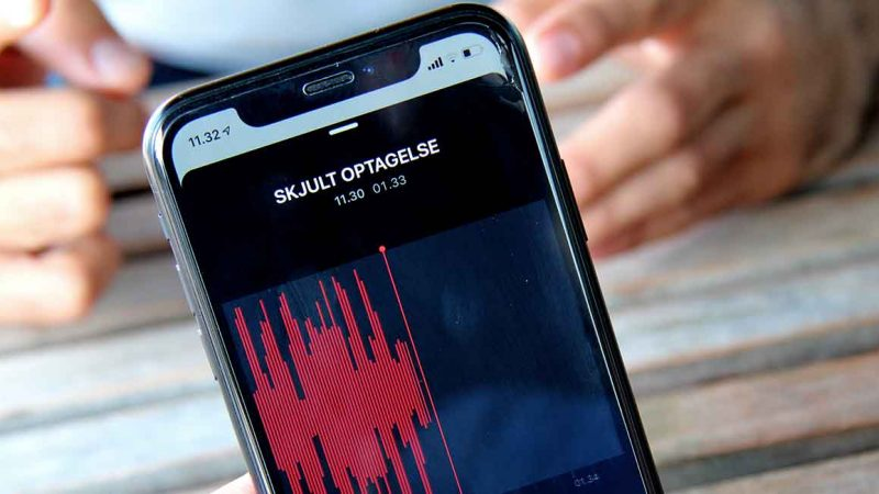 Skjult optagelse med en mobiltelefon