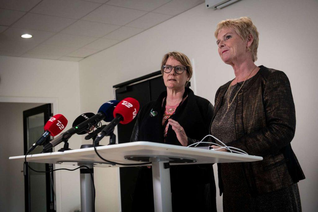 Fusionen mellem LO og FTF til FH: Fagbevægelsens Hovedorganisation: Lizette Risgaard og Bente Sorgenfrey på den stiftende kongres i 2019